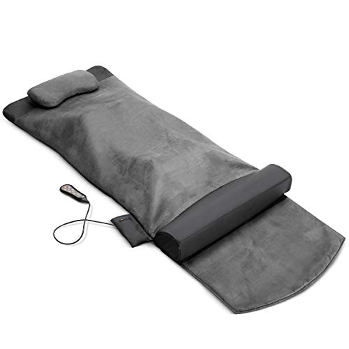 Back Stretching Electric Mat - 4 Stretching Programs for Physiotherapy at Home - Full Body & Back Relaxation - Release Lumbar Tension, Muscle Soreness & Back-Pain - Back Stretcher w/Straps & Foldable