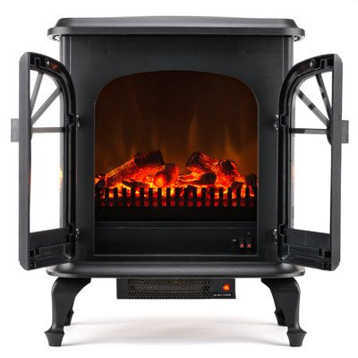 Wellington 1,500 Watt Electric Fireplace Space Heater Compact Corner Electric Fireplace