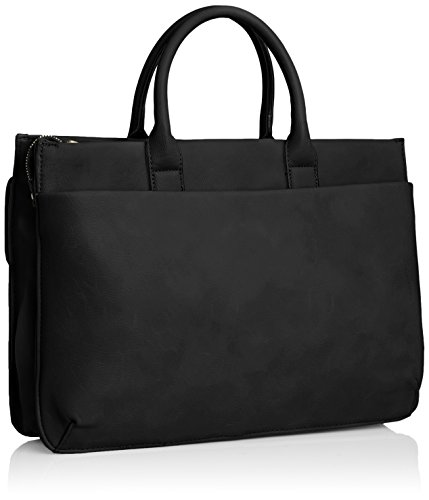 SwankySwansElle Pu Leather Business - Maletín para portátil mujer negro - negro