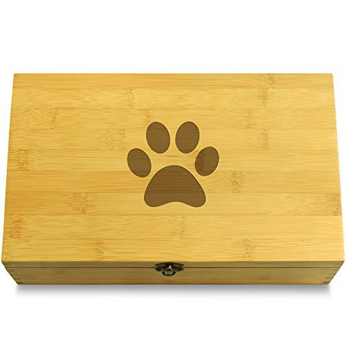 Cookbook People Cat Footprint Pet Multikeep Box - Moving Wall Sustainable Bamboo Adjustable Organizer ()