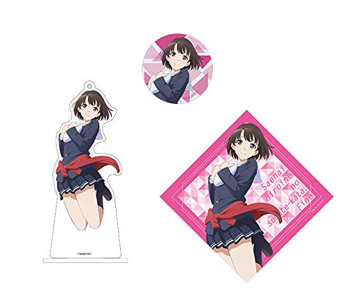 Price comparison product image Aniplex Saekano Megumi Katou AnimeJapan Character Acrylic Stand Key Chain & Can Badge & Sticker Set Collection Anime Art