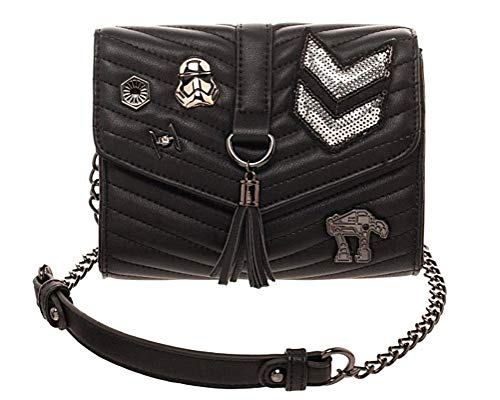 Dark Side Quilted Crossbody Bag With Tassel from Bioworld