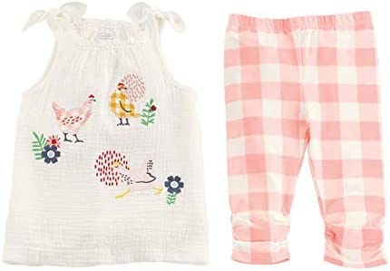 Mud Pie Baby Girls` Tunic & Capri Set
