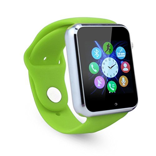 Bluetooth Smart Watch Unlocked Watch Cell Phone with 1.54 Inch Touchscreen Smartwatch Phone for Android iPhone,Samsung Galaxy Note series,Nexcus,HTC etc (Green)