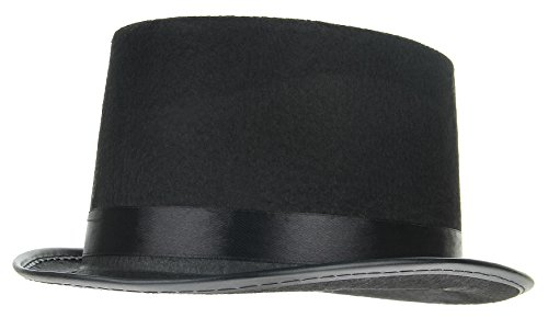 Gemvie Kids Boy Girl Black Top Hat Magician Hats Fancy Dress Halloween Cosplay -