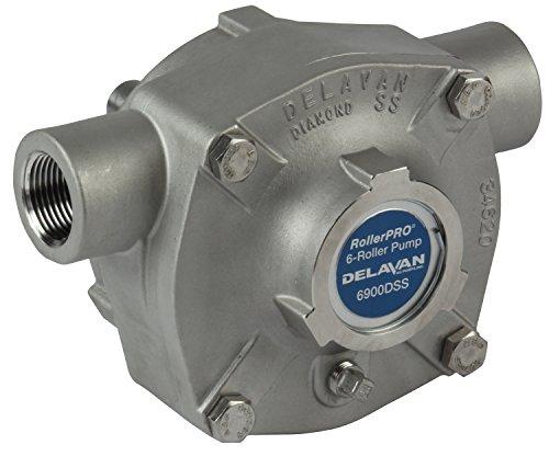 Delavan 6900DSS Diamond Series Stainless Steel 6-Roller Pump - 19.6 GPM, 300 PSI, CCW (Series 300 Pumps)