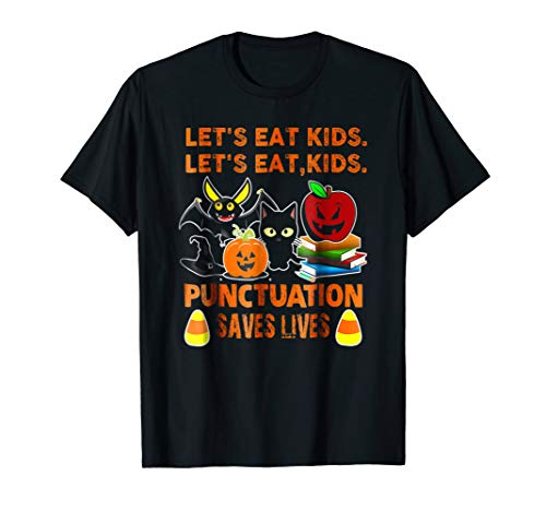 Halloween Let's Eat Kids Punctuation Saves Lives