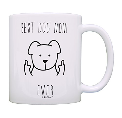 Dog Mom Coffee Mug Best Dog Mom Ever Mug Dog Mom Mothers Day Gifts Dog Related Gifts Dog Gifts for Women Rescue Dog Mom Cup Gift Coffee Mug Tea Cup Dog Mom
