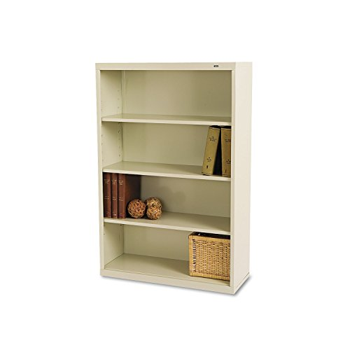 TENNSCO B53PY Metal Bookcase, Four-Shelf, 34-1/2w x 13-1/2d x 52-1/2h, Putty ()