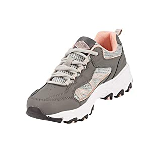 Steel Edge Walking Shoes for Women, Rubber Sole Arch Support Shoes for Women, Comforable Insole Women's Shoes, Lightweight and Breathable Soft Fabric Running Shoes for Women Grey