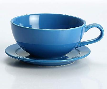 HRDZ Color de cerámica Espesada Esmalte Latte Taza de café Guirnalda Taza de café Cappuccino Taza platillo Taza
