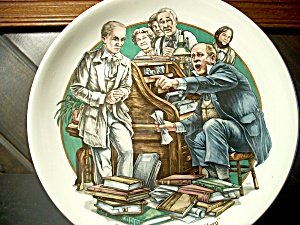 Wedgwood Charles Dickens Micawber Denouncing Uriah Heep Collector Plate