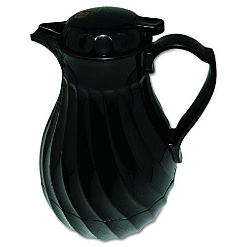 hormel-hor4022b-insulated-plastic-carafe-swirl-40-oz-black