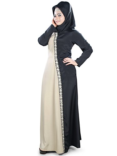 Muslim Schwarz Abaya Bestickte 399 Wear Party amp; MyBatua Formal Warm AY Grau amp; xqAIcHF
