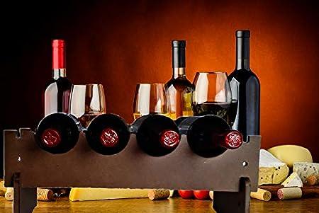 Botellero Apilable de Madera Rustico Artesanal – Ideal Cocina o Bodega – Facil Montaje-Economico