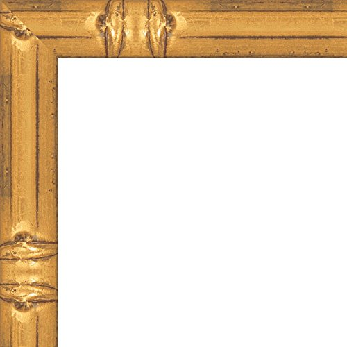 18x24 Solid Gold Bamboo Style Wood Frame - Great for Posters, Photos, Art Prints, Mirror, Chalk Boards, Cork Boards and Marker Boards (Picture Markers compare prices)