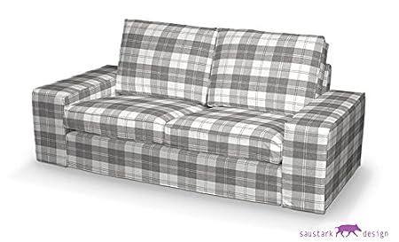 Saustark Design saustark design dundee cover for ikea kivik 2 seater sofa checked