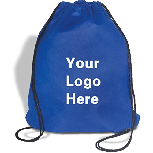Non-Woven Promotional Drawstring Bag String Backpack - 14''w x 17''h- 100 Quantity - $1.87 Each -Promotional Products Bulk Custom Branded with YOUR LOGO for Free C2BPromo #C2BB0155-Blue by C2BPROMO.COM YOU PRICE IT. WE DELIVER IT.
