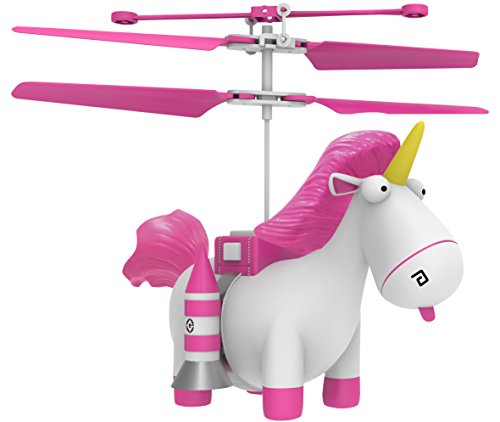Despicable Me 3 Fluffy the Unicorn Mini Drone Flying Helicopter Toy