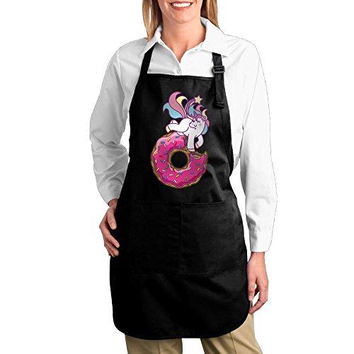 Joapron Unicorn & Donut Custom Aprons For Laundry Black Size One - Pizza Hut Ipswich Delivery