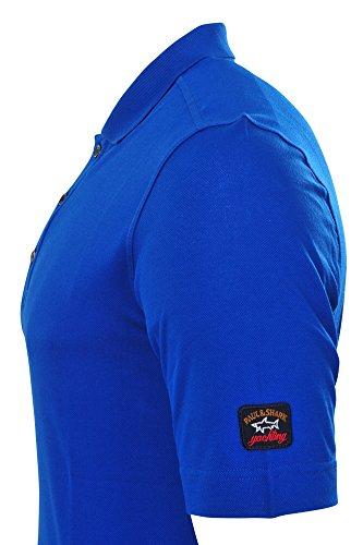 Paul & Shark Polo Poloshirt Einfarbig Blau L