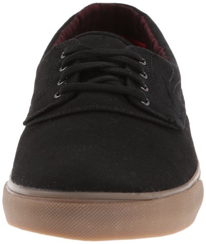 Lakai Mens Camby Skate Shoe Nero Gomma Canvas