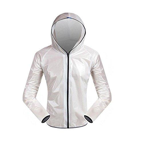De Femmes Veste Blanc Imperméable Vêtement Pantalons Set Hommes Air Hzjundasi Plein Les Raincoat Randonnée Cyclisme Pluie Léger Poids Bicyclette Sport H5qXfwxTn