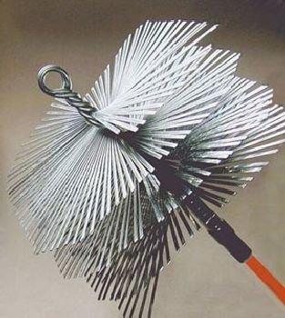 12'' x 16'' Rectangular Flat Wire Brush - 3/8'' thread SANDHILL TI-7119