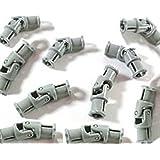 LEGO 61903 Technic - Unión cardán pequeña (3 pivotes, 10 unidades), color gris claro