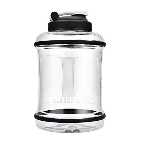 BOTTLED JOY 2.5L Large Capacity Water Bottle with Handle, BPA Free Reusable Sports Drinking Jug Container 85oz 2500ml (Clear)