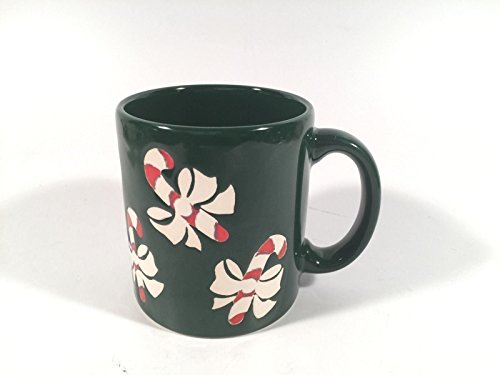 Waechtersbach Vintage Holiday Mug Embossed Candy Cane Enamel Made In W Germany