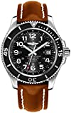 Breitling Superocean II 42 Stainless Steel Men's Watch w/Brown Leather Strap A17365C9/BD67-425X