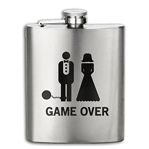 Bachelor Party, Wedding Groomsman Flasks Stainless Steel Liquor Flagon Retro Rum Whiskey AlcoholPocket Flask Liquor Flagon Retro Rum Whiskey Flask Great Gift 6OZ Lightweight