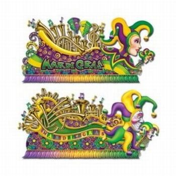 [Mardi Gras Insta-Theme Float Props 65-67in. 2/Pkg] (Mardi Gras Decorations)