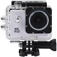 Howley Waterproof Case 4K WIFI Mini Action Cam HD DV Sports Camera (White)