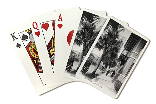 Jacksonville, Florida - View down Forsyth Street (Playing Card Deck - 52 Card Poker Size with Jokers)