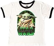 Camiseta infantil Star Wars The Mandalorian The Child Character Ringer