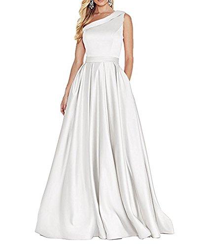 Weiß of Linie Damen Leader A Beauty the Kleid UfqwqdO0c