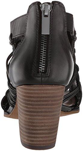 Bella Vita Kvinnor Kortez Klack Sandal Svart Läder