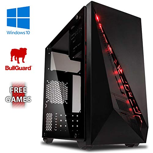 TALLA 16GB RAM, 1TB HDD, Windows 10 Pro. VIBOX Standard 3S - Ordenador para Gaming (AMD A8-7600, 16 GB de RAM, 1 TB de Disco Duro, AMD Radeon R7, Windows 10) Color neón Rojo
