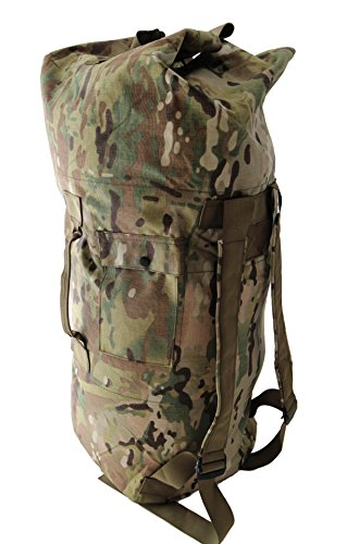 Hanks Surplus Military Cordura Nylon Duffle Bag (Multicam, 37) ()