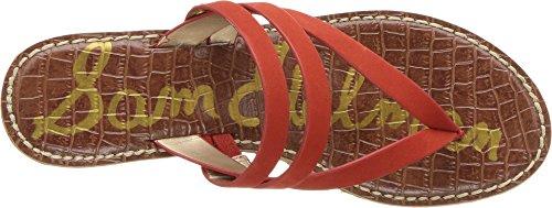 Candy Rasha Nubuck Women's Wedge Elko Sam Leather Sandal Edelman Red nFX1xqpZ