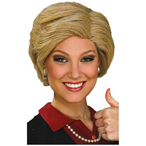 [Hillary Clinton Wig Costume Accessory] (Zombie Race Car Driver Costume)