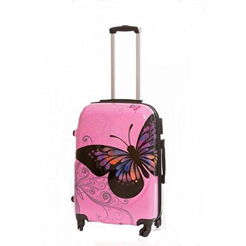 Maleta peque/ña Mariposas Rosa 55x40x23 cm
