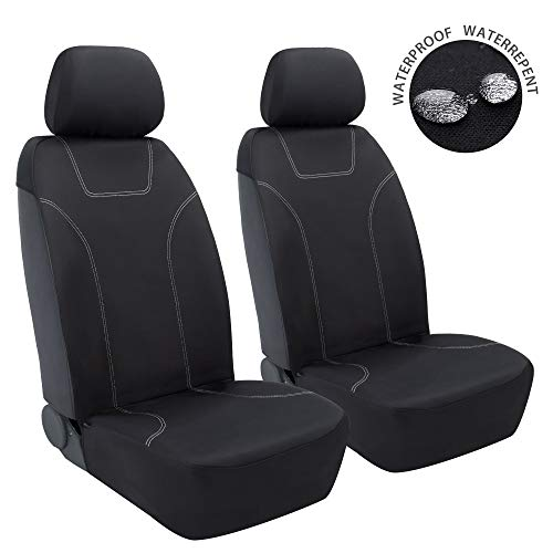 Elantrip Waterproof Neoprene Front Seat Cover Universal Fit Side-Less Quick