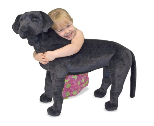 Melissa & Doug Giant Black Lab - Lifelike Stuffed Animal Dog (over 2 feet tall) (Animals Stuffed Black)