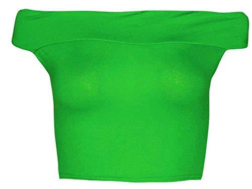 BRADOT SEXY verde TRACOLLA DA ELASTICIZZATA DALLA 46 CANOTTIERA DONNA Giada MAGLIETTA OFF A RAGAZZA DA 38 TOP ALLA CROP wHYUn0wqp
