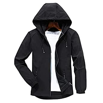 November's Chopin Men's Outdoor Lightweight Windshell Sport Hooded Jacket