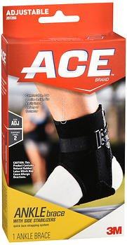 Ace Ankle Brace with Side Stabilizers Adjustable - 1 each, Pack of 5
