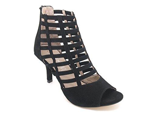 Carmens padova - Sandalias de vestir de Piel para mujer Negro negro